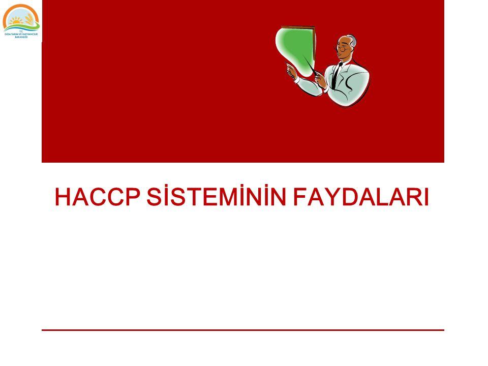 • HACCP sisteminin uygulanmasında etkin ve doğru dokümantasyon ve kayıt tutma sistemi var mı.