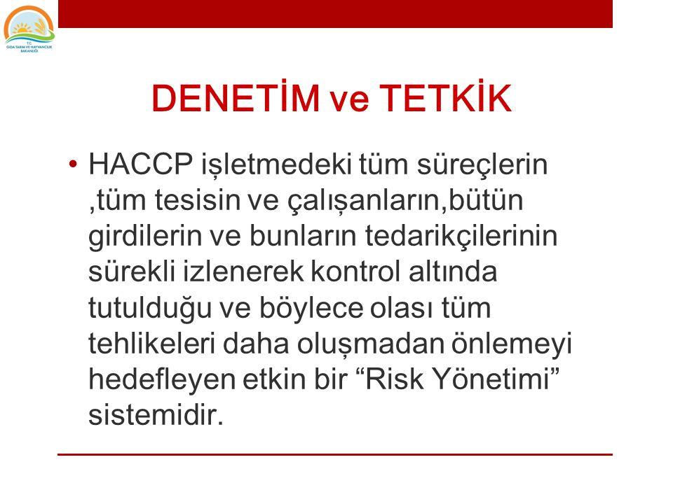 DENETİM VE TETKİK (Inspection & Audit)