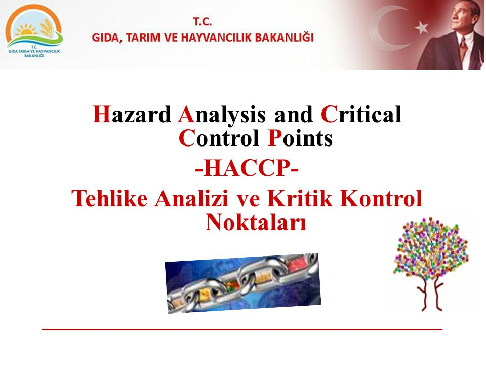 Hazard Analysis and Critical Control Points -HACCP- Tehlike Analizi ve Kritik Kontrol Noktaları