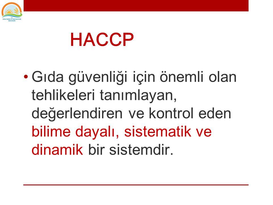Hazard Analysis and Critical Control Points -HACCP- Tehlike Analizi ve Kritik Kontrol Noktaları