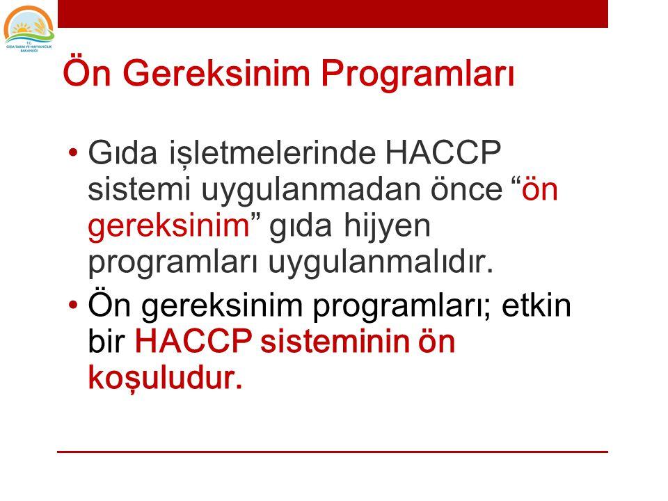 HACCP ÖNGEREKSİNİM PROGRAMLARI