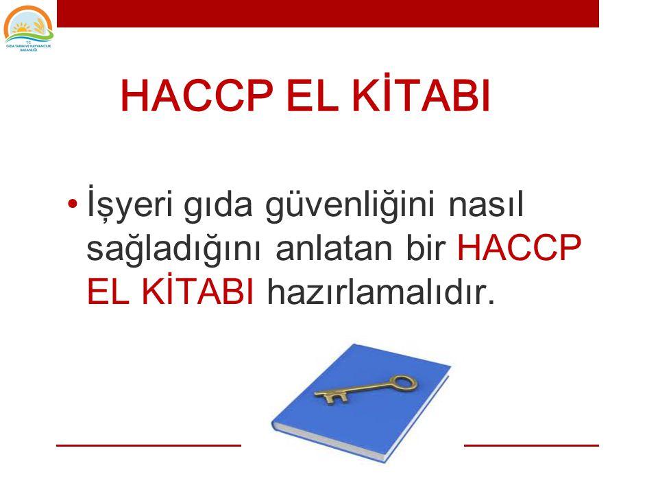 • 1.HACCP ekibinin oluşturulması • 2.Ürünün tanımlanması • 3.Kullanım amacının belirlenmesi • 4.Akış şemasının hazırlanması • 5.Akış şemasının yerinde