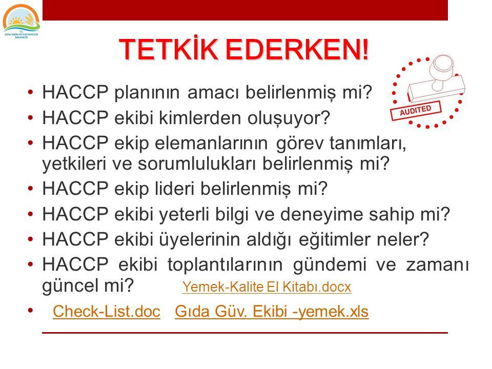• HACCP ekibinin ilk işi; • HACCP planının kapsamını belirlemektir.