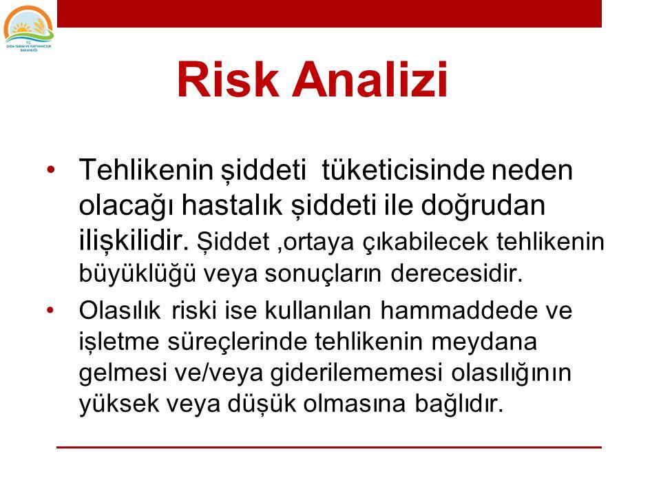 Risk Analizinin amaçları şöyle sıralanabilir. • Tehlikelerin önem seviyesini değerlendirmek veya derecelendirmek, • Prosedürler ve talimatlar ile uygu