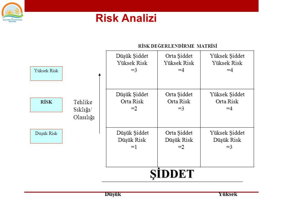 Risk'in kantitatif değerlendirilmesinde kullanılmak üzere geliştirilen Tehlike Skoru denklemi şöyledir; Risk Skoru Tehlikenin Sağlık Gerçekleşme x Üzerindeki Etkisinin Olasılığı Şiddeti Risk Analizi