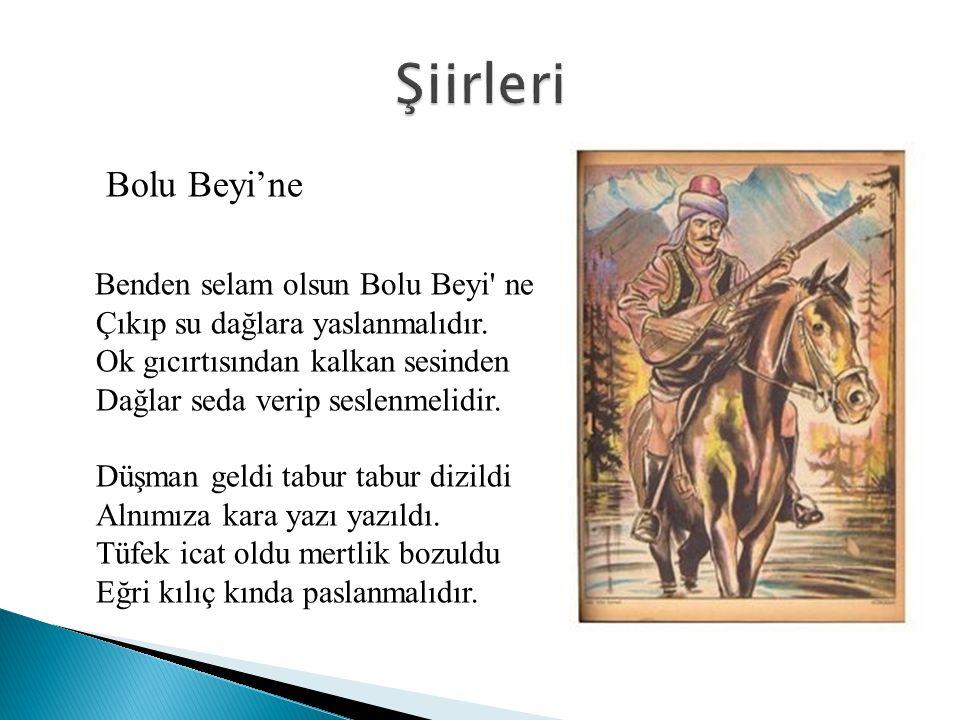 Bir hışmınan geldi geçti Kiziroğlu Mustafa Bey Bu dağları deldi geçti Kiziroğlu Mustafa Bey Ağam kim, canım kim Nigâr kim, canım kim Kiziroğlu Mustafa Bey