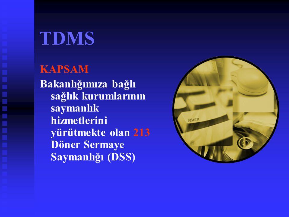 TDMS AMAÇ   Program sayesinde mali bilgi ve tabloların tek düzen muhasebe sistemi içerisinde standart bir şekilde tutulması,   Merkezi veri tabanı