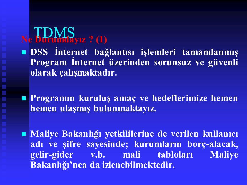 TDMS Yapılan Çalışmalar (8)   Bölge toplantıları sonucunda saymanlıkların o zamana kadar çözülmeyen sorunları tespit edildi.   İl Valilikleri ile