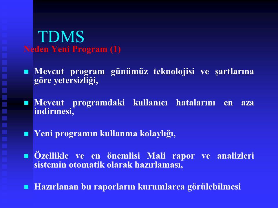 TDMS Eksiklerimiz (1)   Kurumlarımızın Mali bilgi ve işlemleri zamanında Saymanlıklara bildirmemesi,   Saymanlıkların zamanında bu bilgileri siste