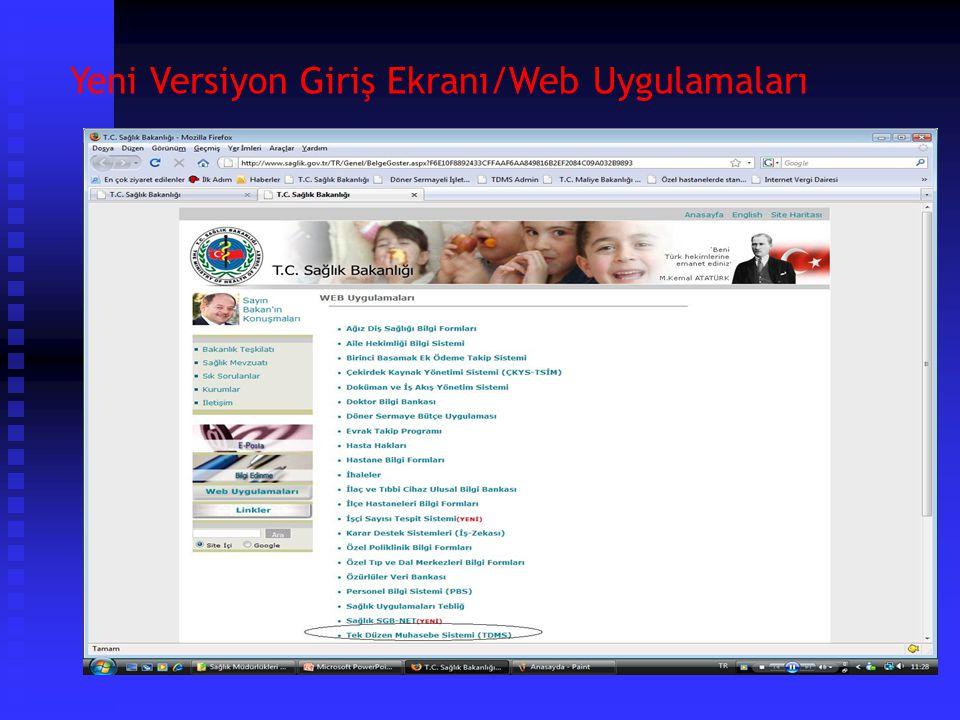 Yeni Versiyon Giriş Ekranı/Sağlık Bakanlığı Ana Sayfa