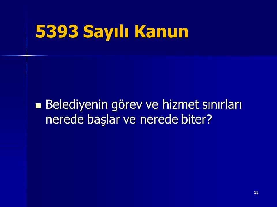 5393 Sayılı Kanun  Belediyenin görev ve hizmet sınırları nerede başlar ve nerede biter? 11