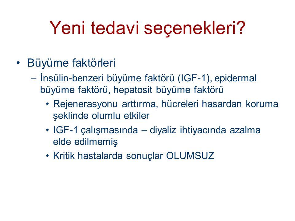 •Büyüme faktörleri –İnsülin-benzeri büyüme faktörü (IGF-1), epidermal büyüme faktörü, hepatosit büyüme faktörü •Rejenerasyonu arttırma, hücreleri hasa