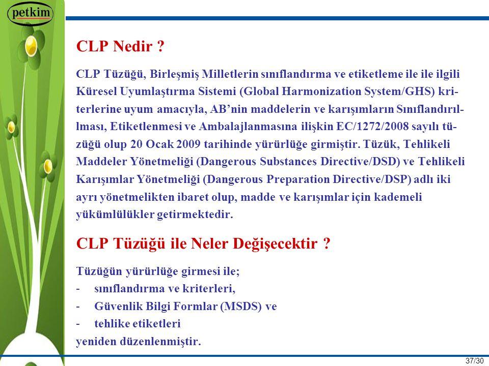 37/30 CLP Nedir .