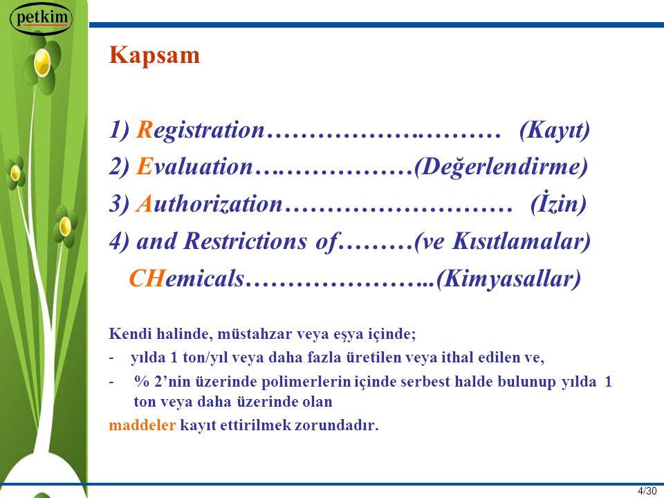 25/30 ÜÇÜNCÜ BÖLÜM Alt Kullanıcılar (Downstream Users)