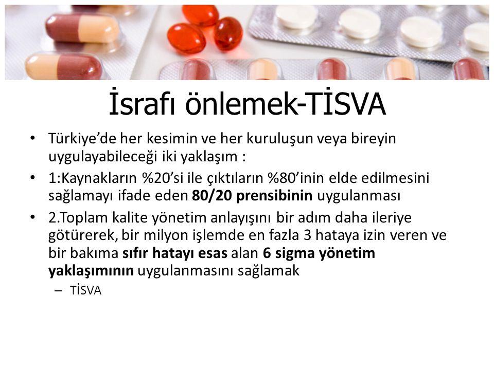 İsrafı önlemek-TİSVA • Türkiye'de her kesimin ve her kuruluşun veya bireyin uygulayabileceği iki yaklaşım : • 1:Kaynakların %20'si ile çıktıların %80'