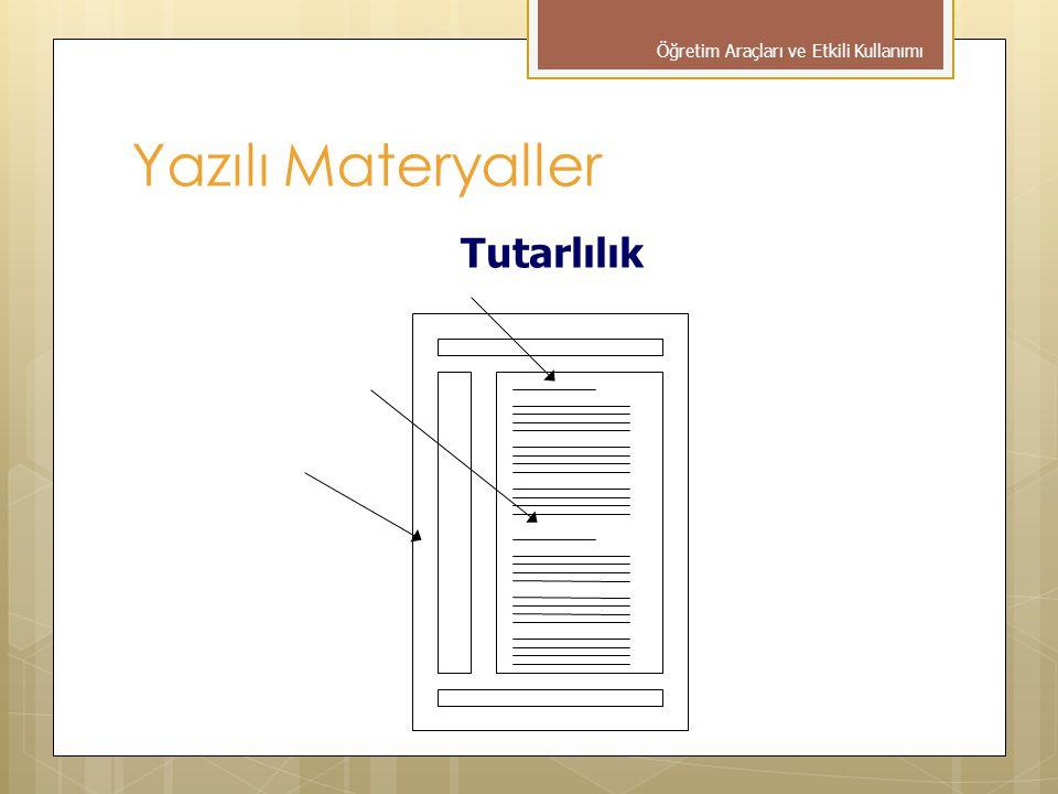 Tutarlılık Öğretim Araçları ve Etkili Kullanımı