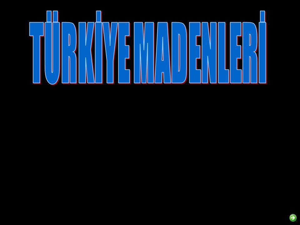 TÜRKİYE BOR MADENCİLİĞİ Türkiye de bilinen başlıca borat yatakları Batı Anadolu da yer almakta ve bu yataklar dünya rezervinin % 60-70 ine sahip bulunmaktadır.