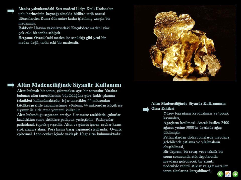 Manisa yakınlarındaki Sart madeni Lidya Kralı Kroisos'un ünlü hazinesinin kaynağı olmakla birlikte tarih öncesi dönemlerden Roma dönemine kadar işletilmiş zengin bir madenmiş.