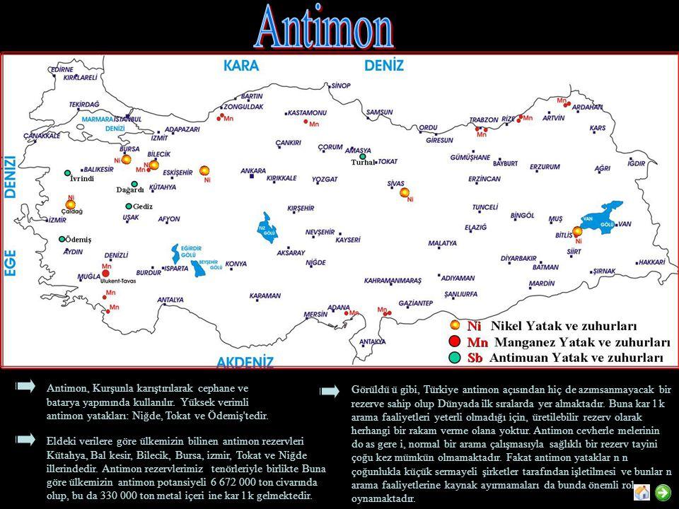 Antimon, Kurşunla karıştırılarak cephane ve batarya yapımında kullanılır.
