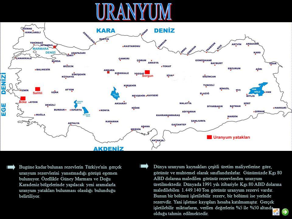 Bugüne kadar bulunan rezevlerin Türkiye nin gerçek uranyum rezervlerini yansıtmadığı görüşü egemen bulunuyor.
