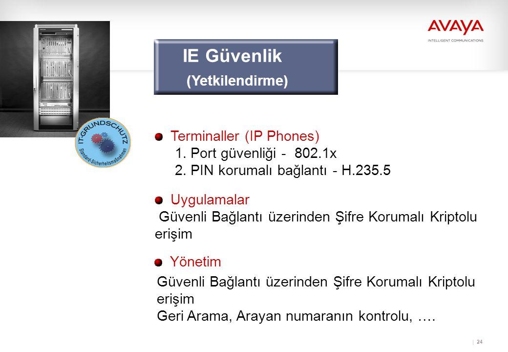 24 Yönetim Güvenli Bağlantı üzerinden Şifre Korumalı Kriptolu erişim Geri Arama, Arayan numaranın kontrolu, ….