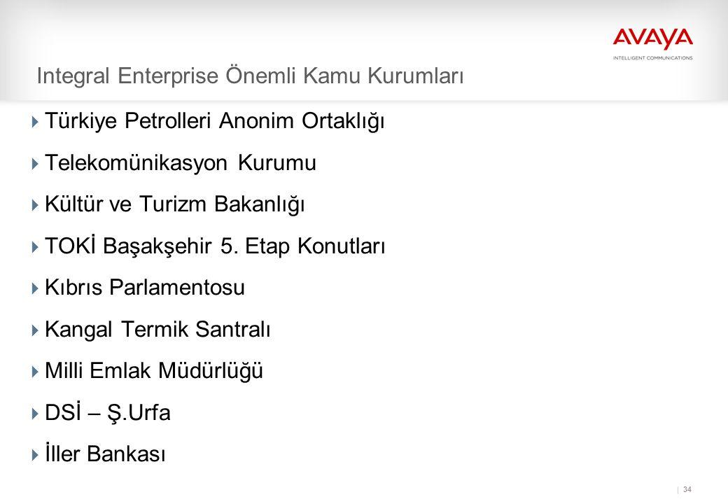 34 Integral Enterprise Önemli Kamu Kurumları  Türkiye Petrolleri Anonim Ortaklığı  Telekomünikasyon Kurumu  Kültür ve Turizm Bakanlığı  TOKİ Başakşehir 5.