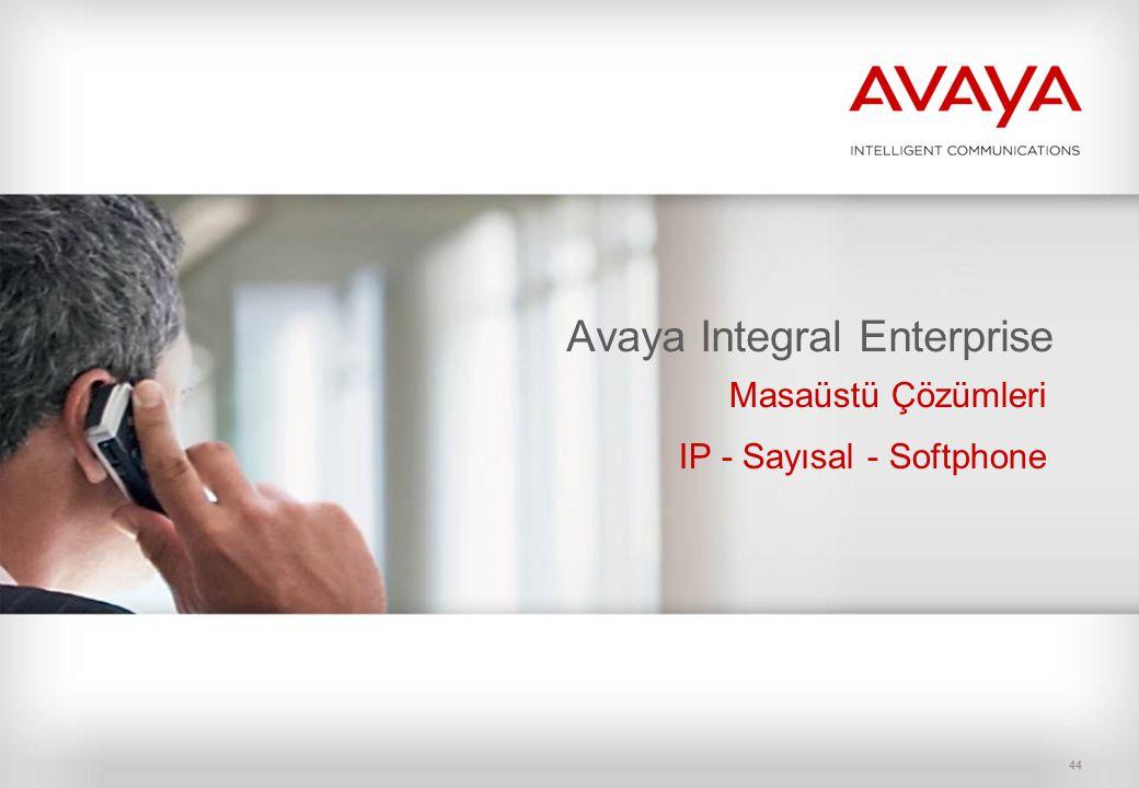 44 Avaya Integral Enterprise Masaüstü Çözümleri IP - Sayısal - Softphone
