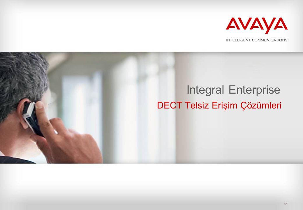 61 Integral Enterprise DECT Telsiz Erişim Çözümleri
