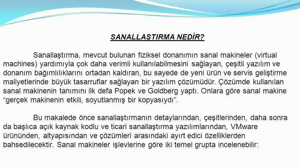 SANALLAŞTIRMA NEDİR.
