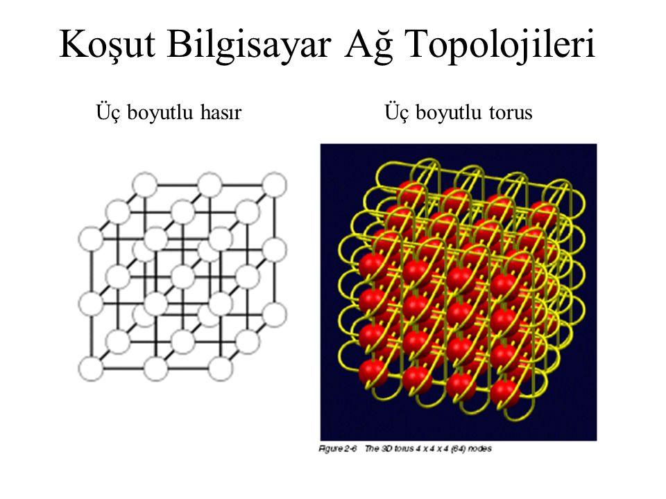 Koşut Bilgisayar Ağ Topolojileri Üç boyutlu hasırÜç boyutlu torus