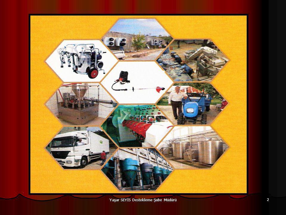 AMACI;  Tarımsal faaliyetler için geliştirilen yeni teknolojilerin üreticiler tarafından kullanılmasını yaygınlaştırmak.
