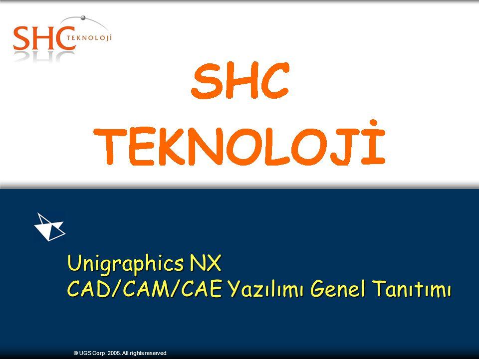 © UGS Corp. 2005. All rights reserved. Unigraphics NX CAD/CAM/CAE Yazılımı Genel Tanıtımı