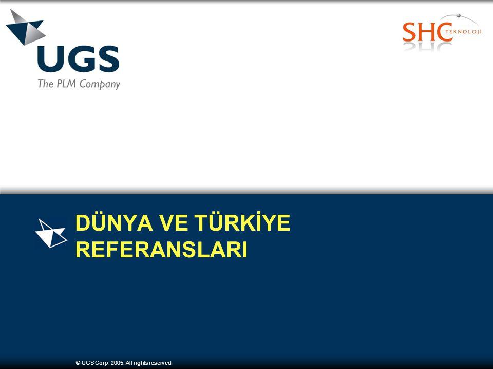 © UGS Corp. 2005. All rights reserved. DÜNYA VE TÜRKİYE REFERANSLARI