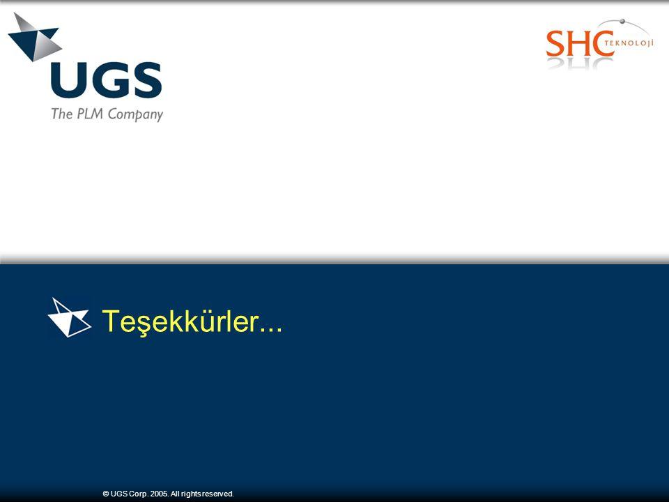 © UGS Corp. 2005. All rights reserved. Teşekkürler...