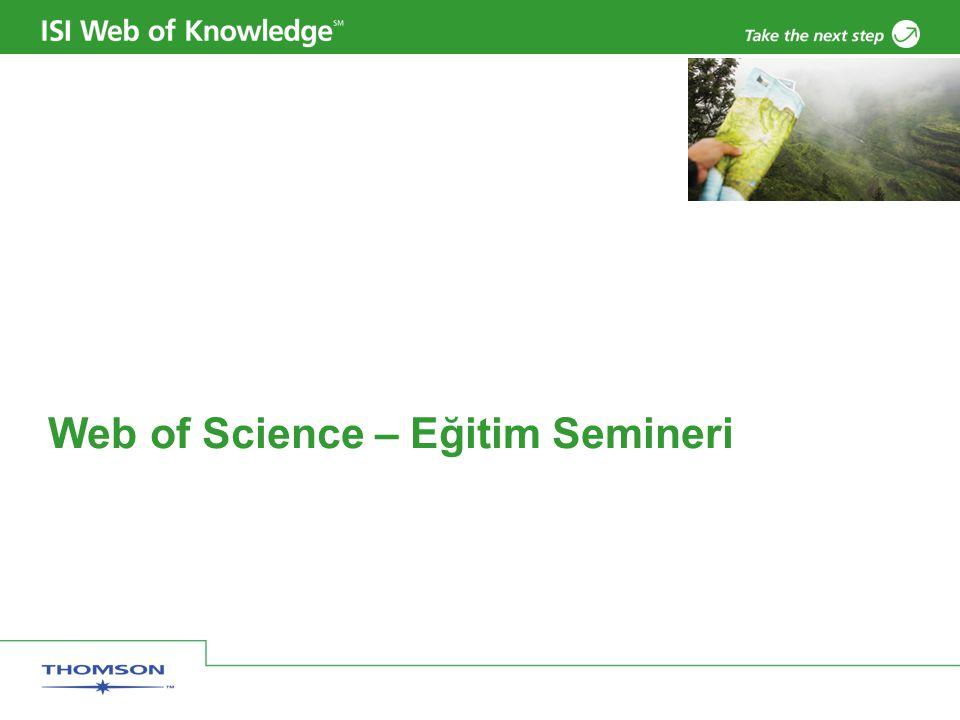 Web of Science – Eğitim Semineri