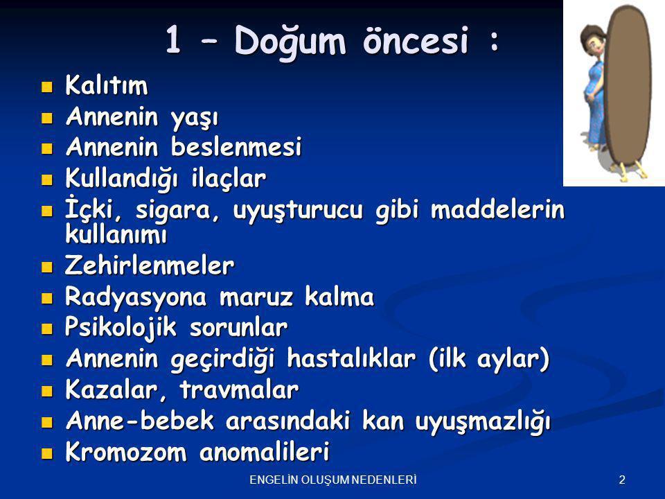 23ENGELİN OLUŞUM NEDENLERİ 3.