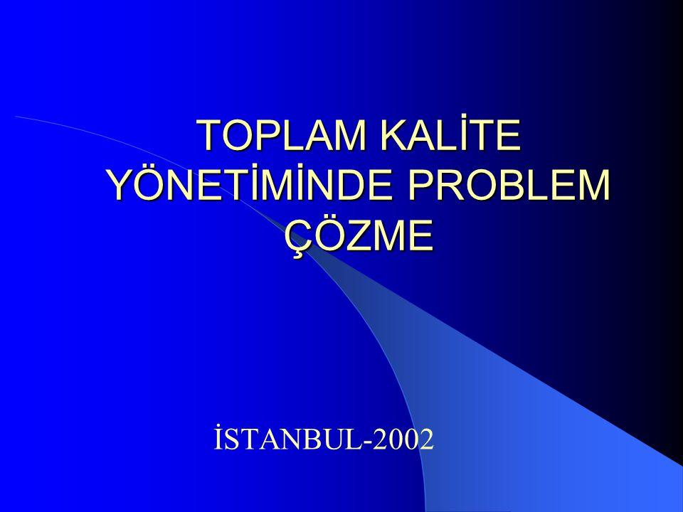 TOPLAM KALİTE YÖNETİMİNDE PROBLEM ÇÖZME İSTANBUL-2002
