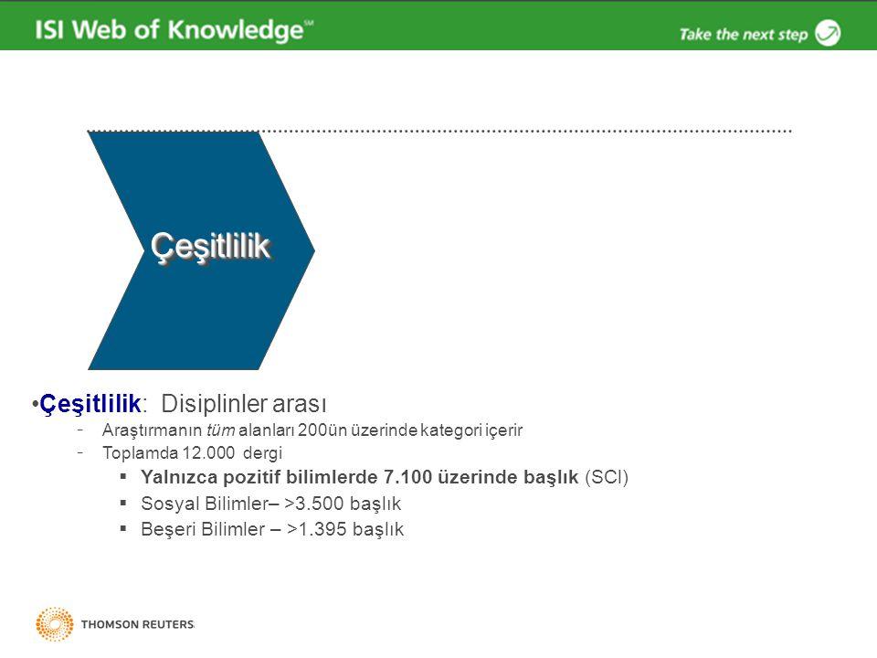 Cited Reference Look-up table Mavi renkli Atıf referansları diğer kayıtlara linklerdir.