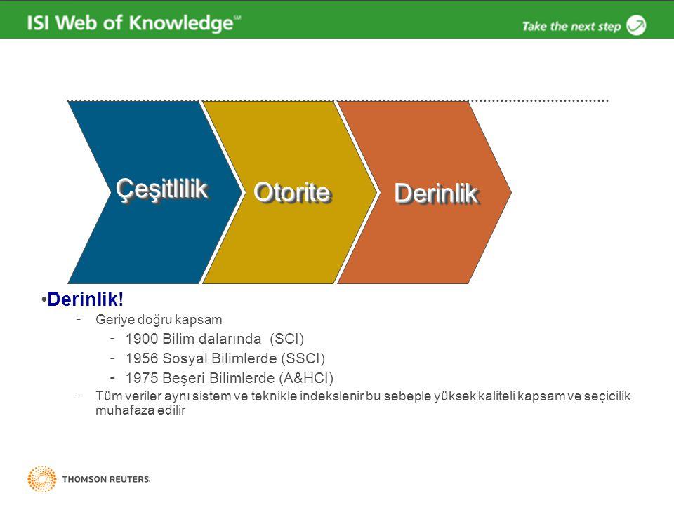 Web of Science atıf dizinleri bilimsel değerlendirmelerde temel referans kaynaktır.
