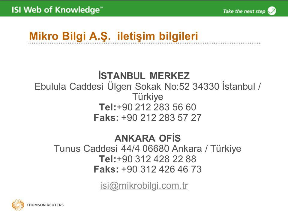 Mikro Bilgi A.Ş. iletişim bilgileri İSTANBUL MERKEZ Ebulula Caddesi Ülgen Sokak No:52 34330 İstanbul / Türkiye Tel:+90 212 283 56 60 Faks: +90 212 283