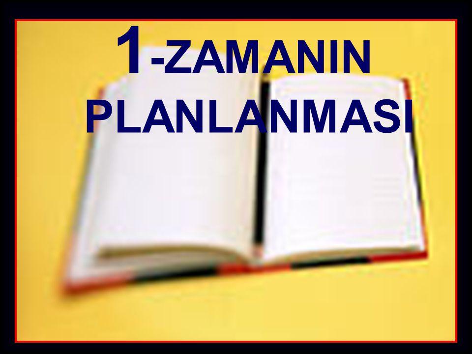 1 -ZAMANIN PLANLANMASI