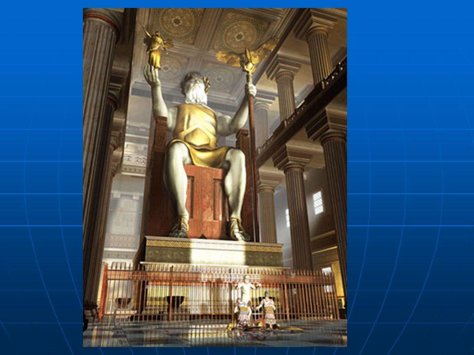  Zeus Heykeli MÖ 450 yıllarında, adına olimpiyat oyunları düzenlenen Tanrıların kralı Zeus için, Olimpiyatlara ismini veren Olimpia(Olimpos)'da yapıl