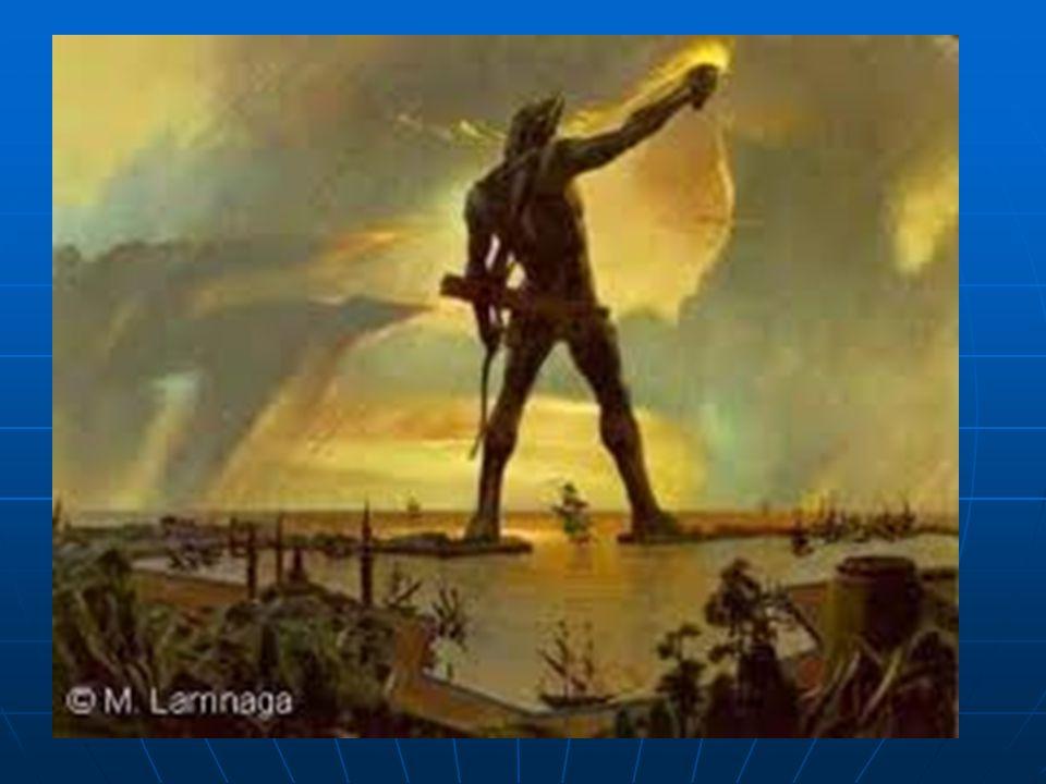  32 metre yüksekliğinde, demir ve taşla desteklenmiş bronzdan yapılmış bir heykeldir. Rodoslular tarafından Güneş Tanrısı Helios'a ithafen yapılmıştı