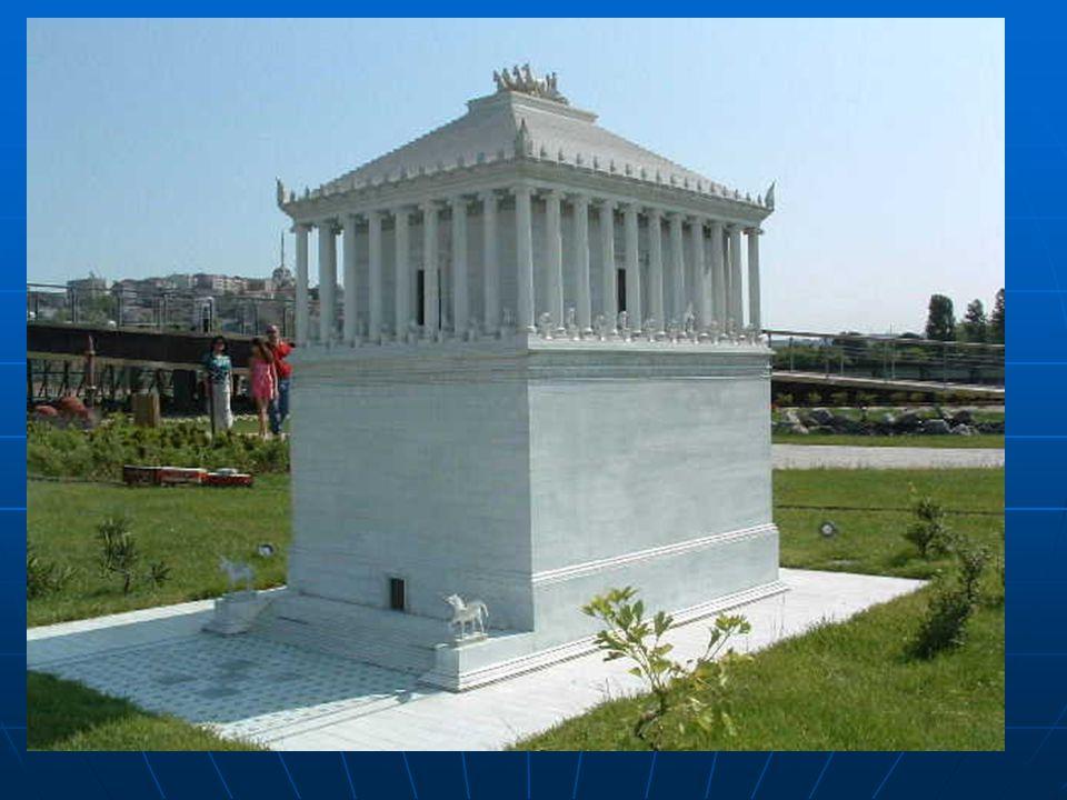  Halikarnas Mozolesi, Kral Mausollos için karısı ve kız kardeşi tarafından yaptırılmış bir mezar. Bodrum civarında yapılmış ve yapımı MÖ 350 yılında