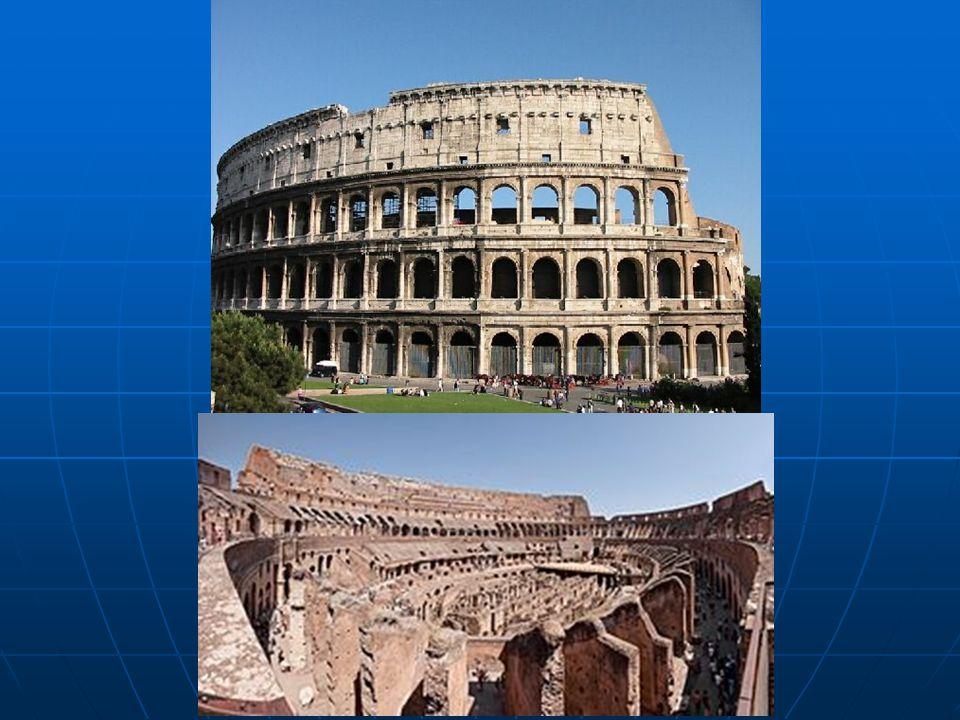  İtalya'nın başkenti Roma'da bulunan Flavianus Amfitiyatro olarak da bilinen Kolezyum bir arenadır. Usta bir komutan olan Vespasianus tarafından MÖ