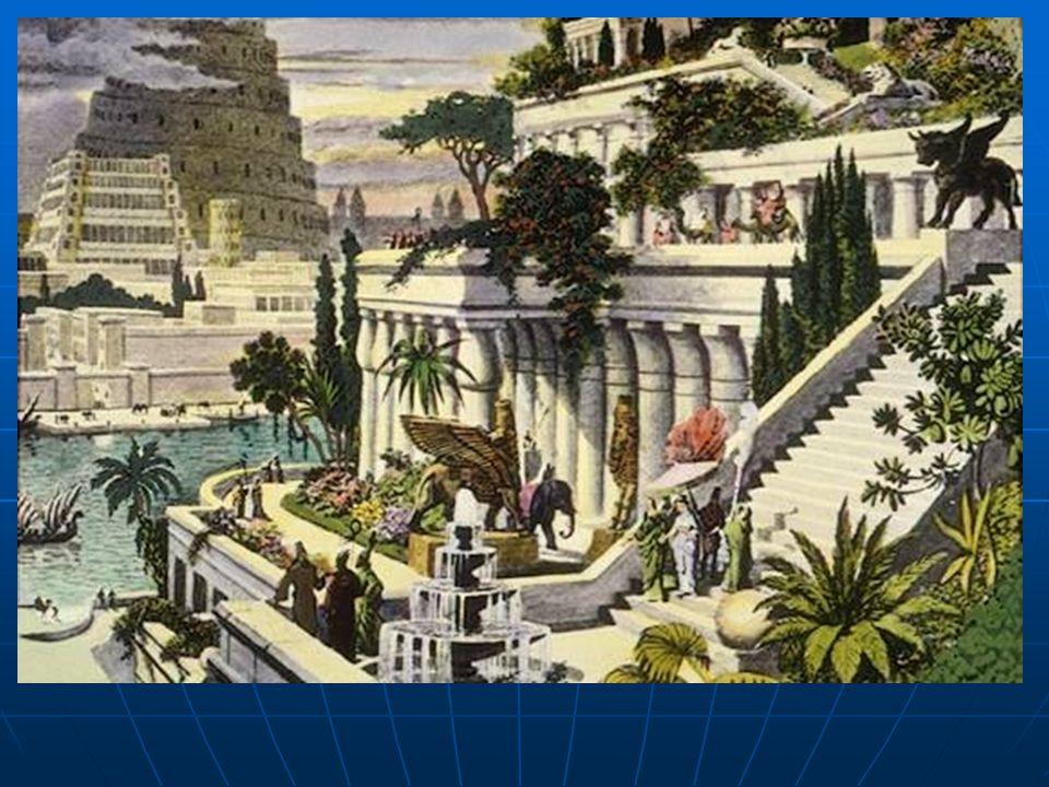  MÖ 7. yüzyılda Babil kralı II.Nebukadnezar tarafından yaptırılmıştır. Babil'in çorak Mezopotamya çölünün ortasında, ağaçlar, akan sular ve egzotik b