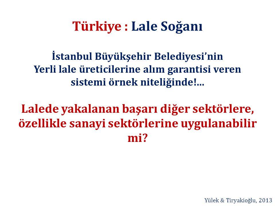 Türkiye : Lale Soğanı İstanbul Büyükşehir Belediyesi'nin Yerli lale üreticilerine alım garantisi veren sistemi örnek niteliğinde!... Lalede yakalanan