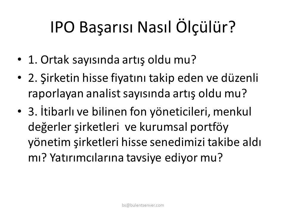 IPO Süreci • 13. Konsorsyum oluşturma çalışmalarının yapılması • 14. Tanıtım Pazarlama kampanyasının yapılması(Road Show) • 15. Hisse Satış Fiyatının