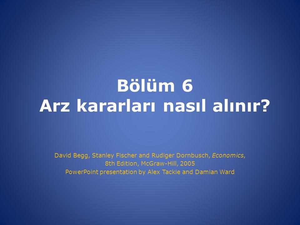 Bölüm 6 Arz kararları nasıl alınır.