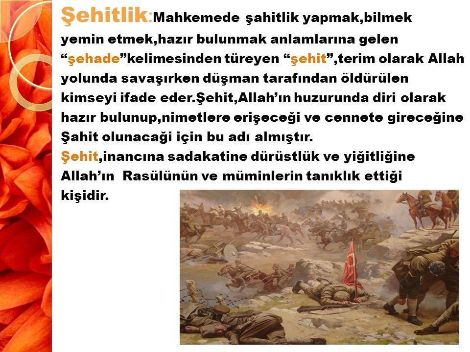 Fadâle İ bnu Ubeyd (radıyalahu anh) anlatıyor: Her ölenin ameline son verilir, ancak Allah yolunda ölen murâbıt müstesna.